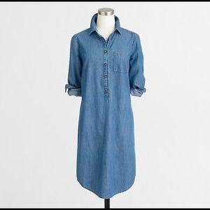 JCREW Chambray Shirtdress size Medium